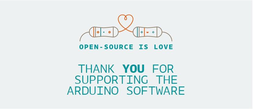 MyBotRobot Arduino tarjeta agradecimiento Open Source is Love
