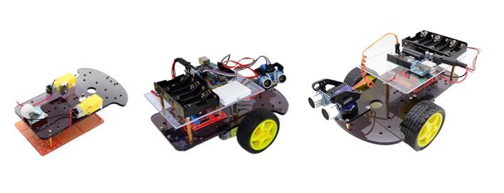 MyBotRobot imagen etapas construccion y resultado kit Arduino Robot