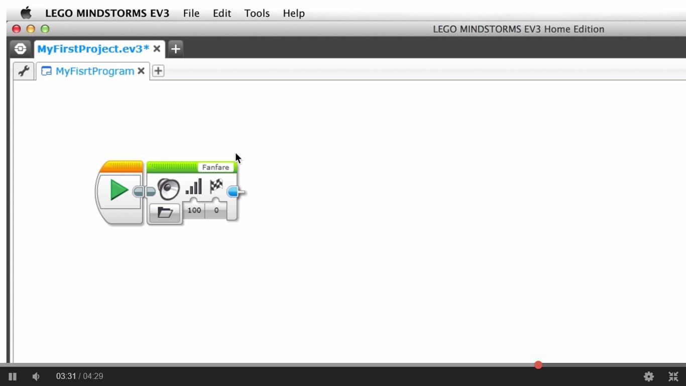 Entorno prgramación Lego Mindstorms para Robotica para niños