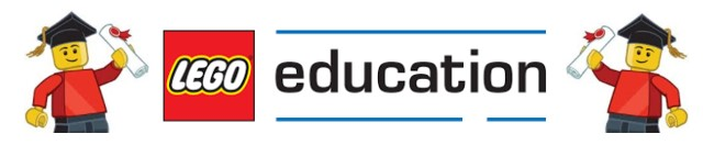 Logo Lego Education y dibujo lego en Robótica para niños