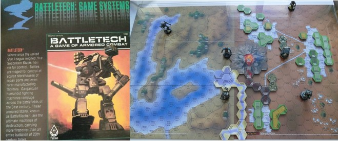 MyBotRobot Juegos de robots de tablero Battletech Instrucciones y vista aerea tablero y partida