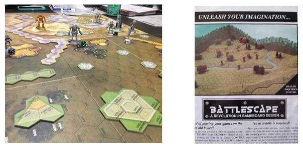 MyBotRobot Juegos de Robots de tablero Battletech partida en curso y Battlescape