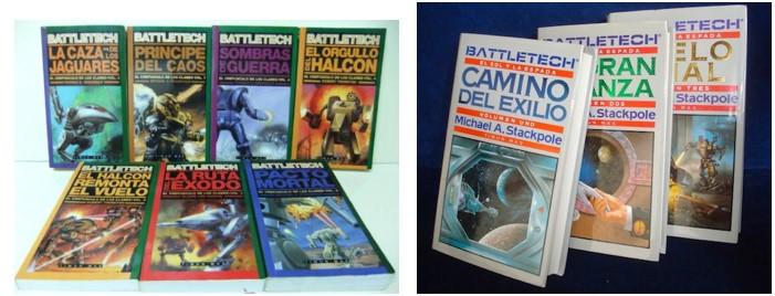 MyBotRobot Juegos de robots de tablero Battletech y sus libros