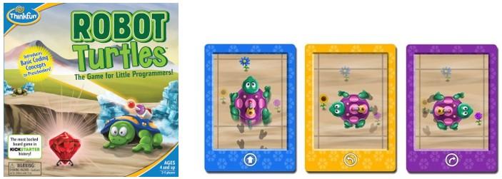 MyBotRobot Juegos de robots de tablero Robot Turtles caja y cartas