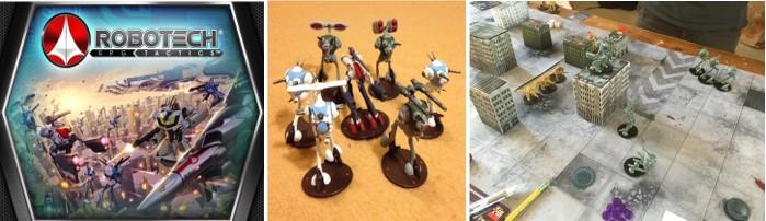 MyBotRobot juegos de tablero de robots Robotech RPG tactics caja, detalle miniaturas y tablero