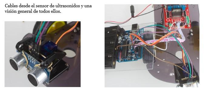 Tercera imagen de cables: general y la del sensor de ultrasonidos