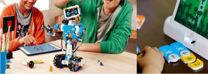 My Bot Robot Niños programando un robot lego con tablets