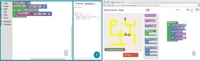 My Bot Robot Como son los bloques de Blockly de Google para programar