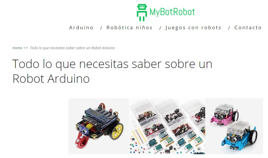 MyBotRobot imagen de la categoría Robot Arduino
