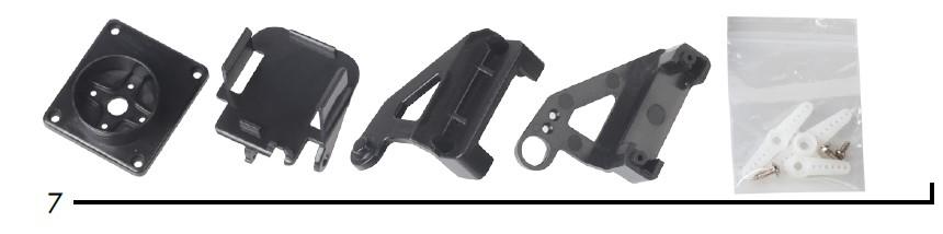 Kit montaje arduino piezas de soporte al servo motor
