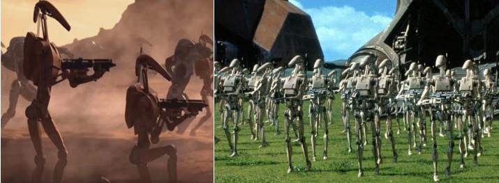 Droides Star Wars B1 y OOM