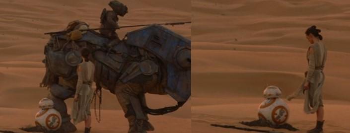 Droides Star Wars BB8 se encuentra con Rey
