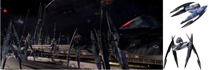 Droides Star Wars Droides buitre plegado y como caza