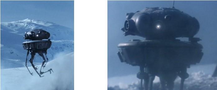 Droides Star Wars Droide Sonda Víbora en el planeta helado Hoch