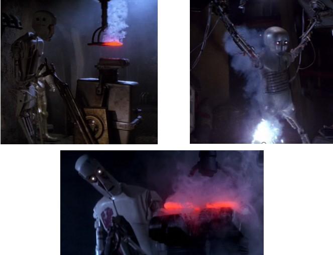 Droides Star Wars torturadores de la guarida de Jabba