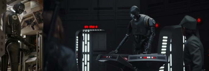 El Droide de Star Wars Rogue One K-2SO demostrando sus habilidades