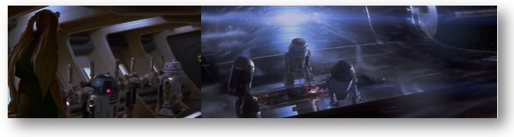Droides Star Wars Otros Astromecanicos en la huida de Padme