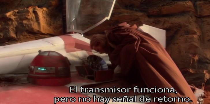 Droides Star Wars R4-P17 con un joven Obi Wan