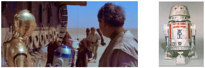 Droides Star Wars Astromecánico R5-D4