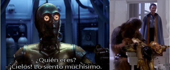 El Robot Star Wars C3PO es desmantelado en la ciudad minera por descubrir algo que no debía