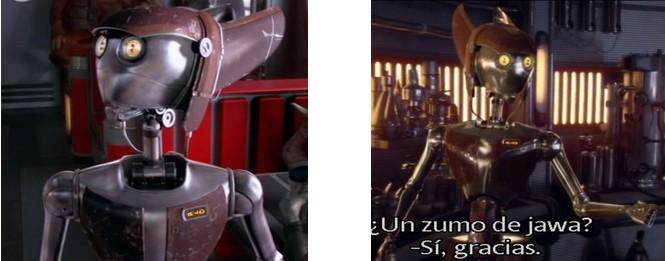 Robot Star Wars camarera en el episodio II