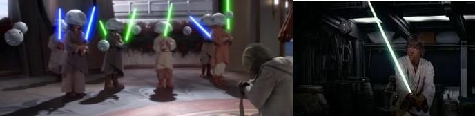 Robot Star Wars de entrenamiento Jedi