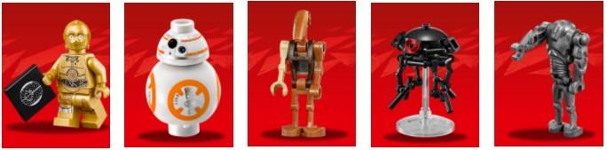 Robot Star Wars personajes droides de Lego Star Wars