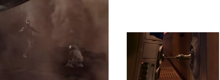 Robot Star Wars R2D2 y C3PO en Geonosis