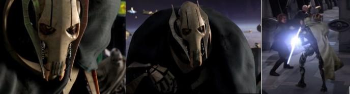 Grievous y escena de Anakin luchando contra Magna Guardia