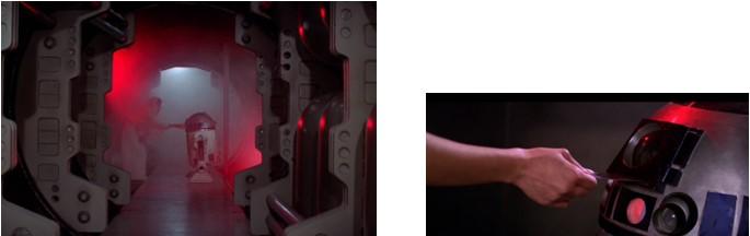 Leia transmite el mensaje holográfico a Robot Star Wars R2D2