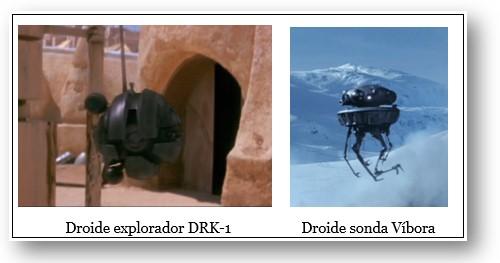 Nombres de Robots Star Wars - Droides Exploradores DRK-1 y Víbora