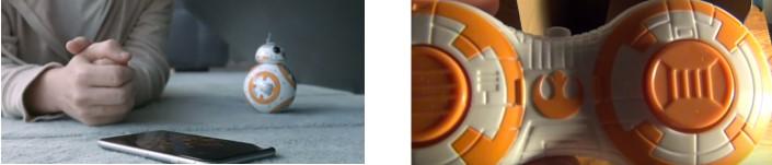 BB-8 Sphero se maneja con smartphone mientras que el BB- de Hasbro se maneja con un mando a distancia