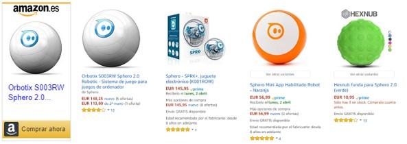 Imagen de diversas bolas robóticas Sphero con enlace para explorar precios y ofertas