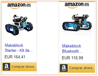 Imagen del kit de iniciación de Makeblock con link de compra