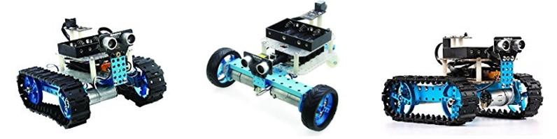 Distintos robots construidos con Makeblock kit inicial