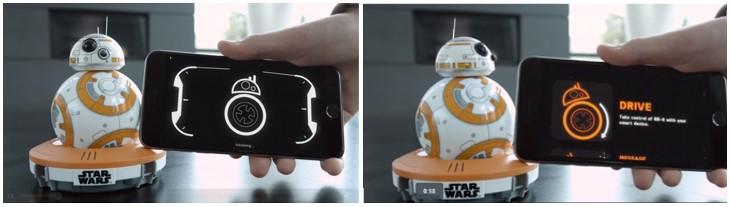 Detalles del manejo del BB-8 de Sphero con la app y el móvil