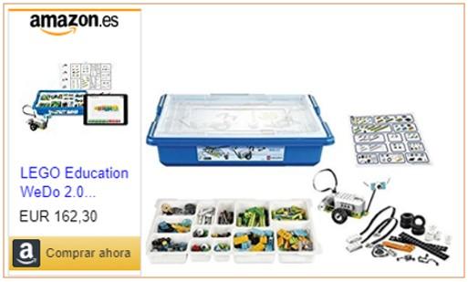 Imagen del lit Lego Education WeDo con enlace de compra