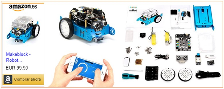 Imagenes de MBot Arduino con enlace a lugar de compra
