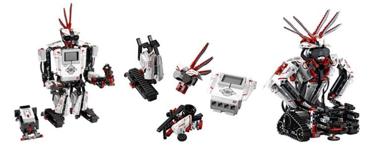 Distintos modelos posibles de robots construídos con Lego Mindstorms