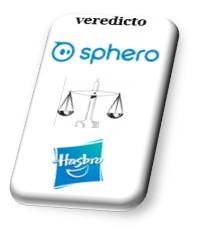 Cuadro biselado veredicto entre Sphero y Hasbro