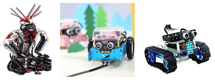 Robots hecho con Lego Mindstorms y Makeblock