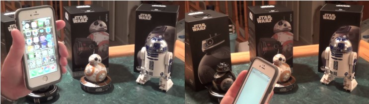 Iniciando la app de los robots Star Wars de Sphero