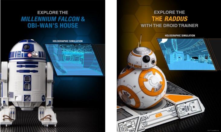 Simulaciones holográficas de los robots Sphero de Star Wars