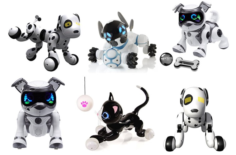 Perro robot para niños según distintos fabricantes Chip Zommer Teksta y mascota robótica Kitty
