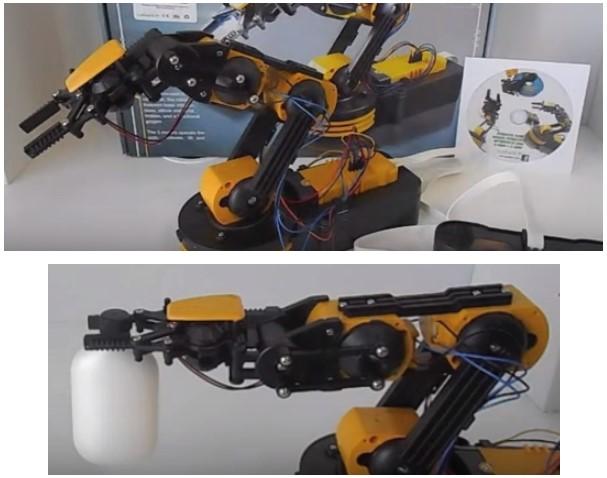 Propuesta de brazo robot barato en forma de kit marca Cebek