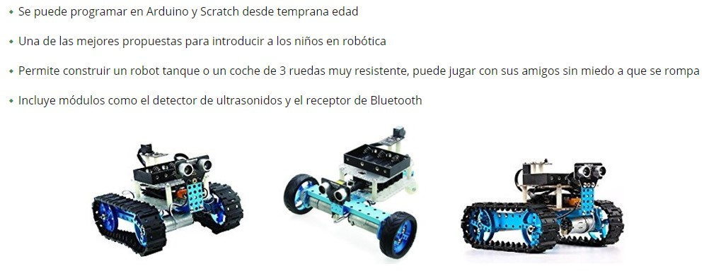 Kit Makeblock como alternativa a Lego Mindstorms