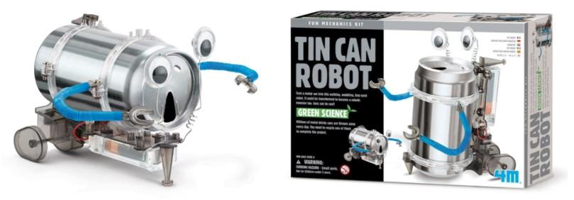 Robot barato ecológico para montar de la firma 4M