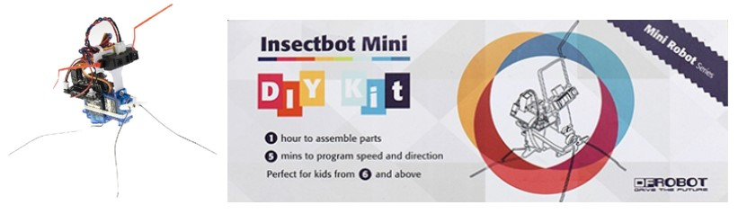 Mini Robot InsectBot kit Arduino a precio asequibl