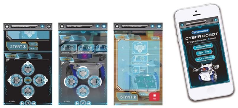 Entorno de programación mediante móvil del Cyber robot Clementoni