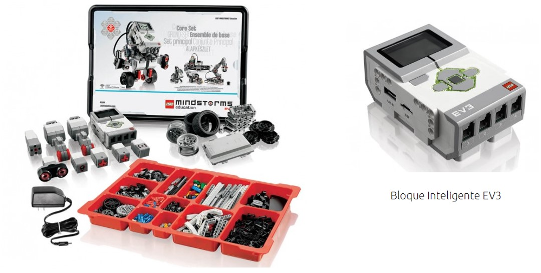 Lego Mindstorms version education y bloque inteligente EV3